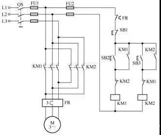 接触器连锁的正反转控制电路▼